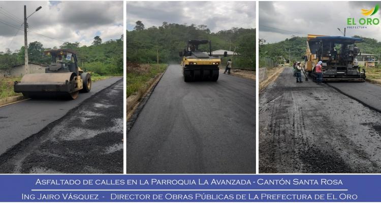 CONTINUAMOS LOS TRABAJOS DE ASFALTADO DE CALLES EN LA PARROQUIA
